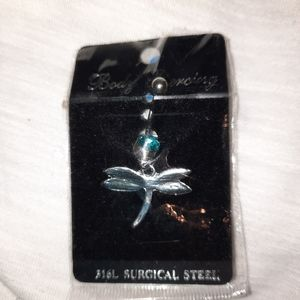 Surgical steel belly ring